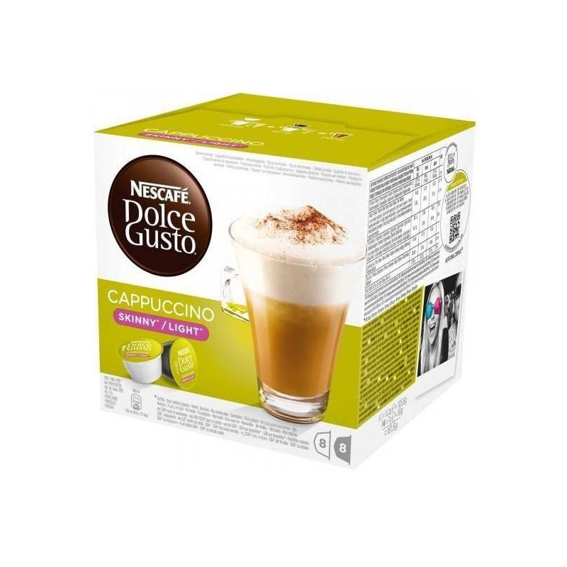 Cappuccino leve Dolce Gusto, 8+8 uds